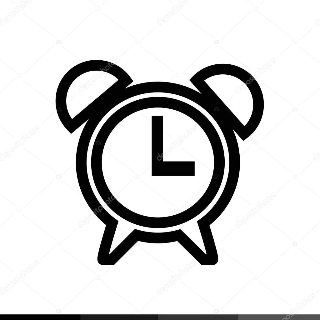 Ícone De Tempo, Desenho De Ilustração De ícone De Relógio