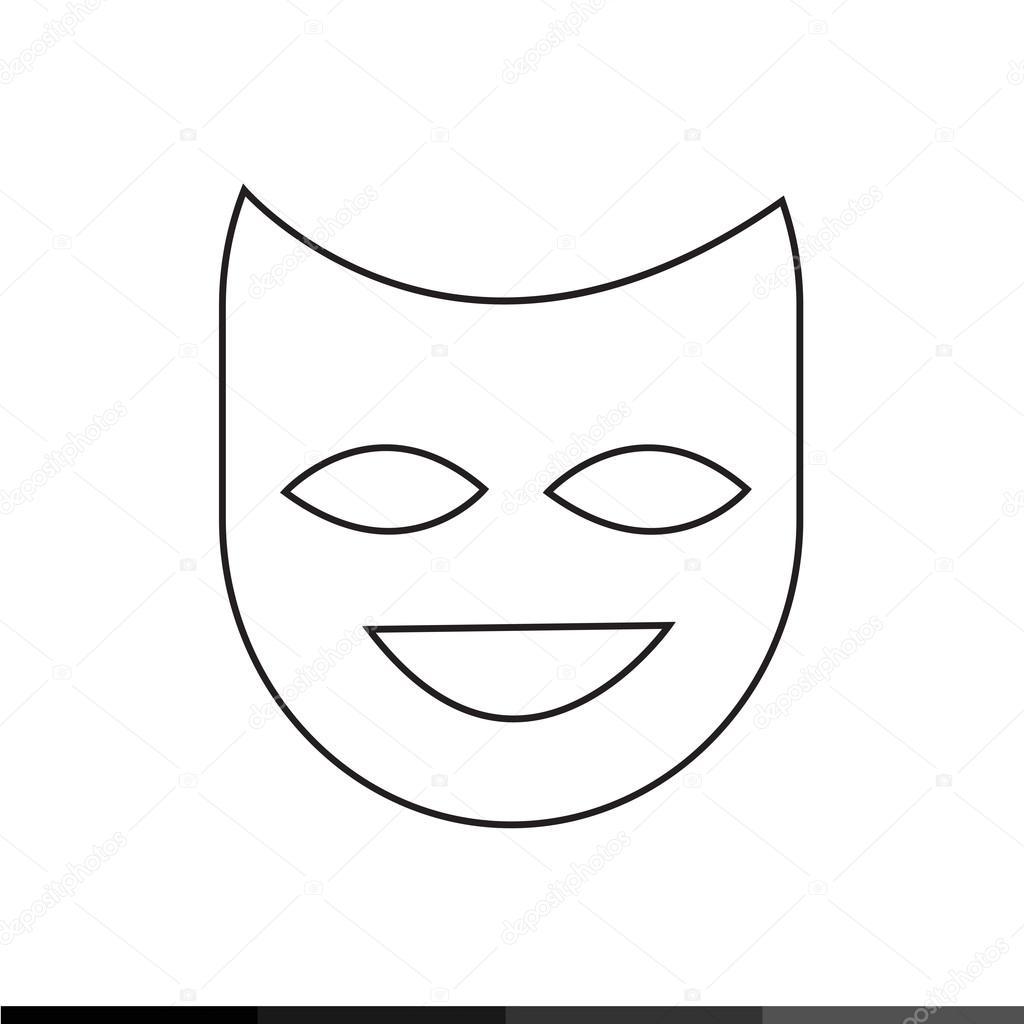 prodotti caldi design innovativo nuovo stile Disegno di illustrazione dell'icona di teatro maschera ...