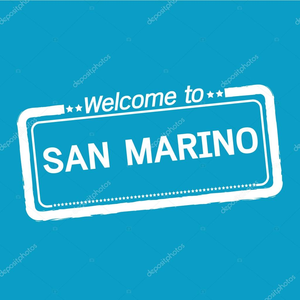 Welcome to SAN MARINO illustration design — Stock Vector © porjai ...
