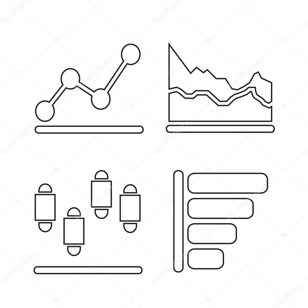 Diagramm Diagramm Icon Illustration-design — Stockvektor © porjai ...