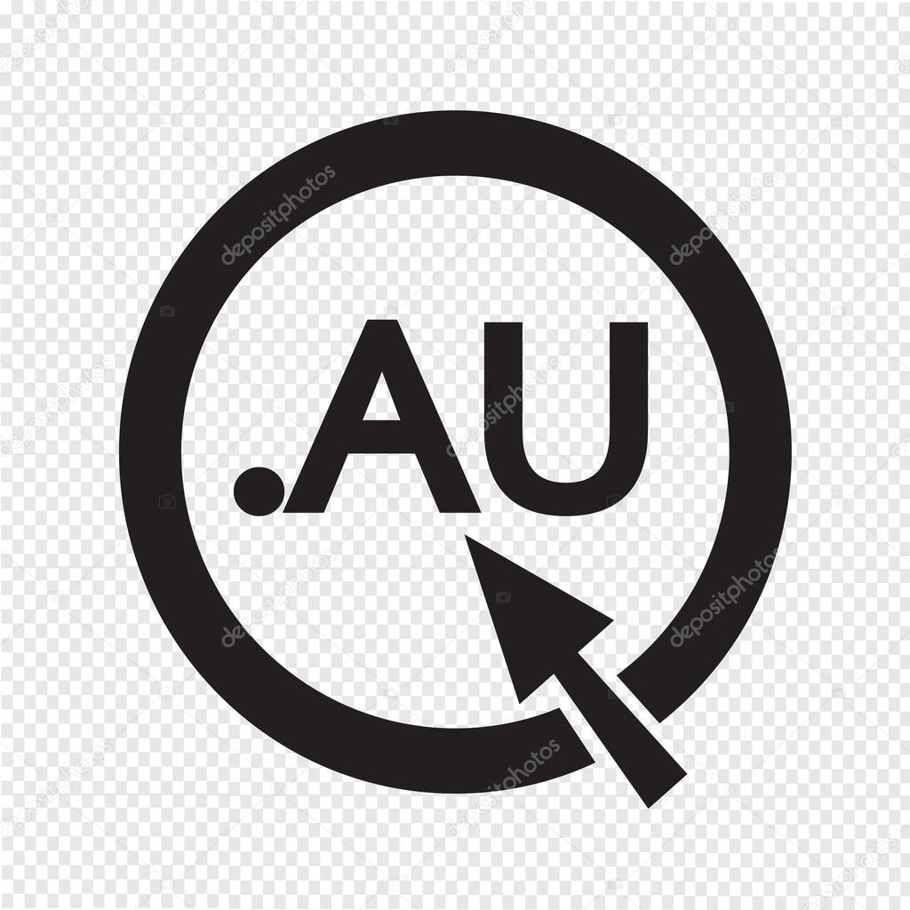 オーストラリア ドメイン ドット Au 記号アイコン イラスト ストック