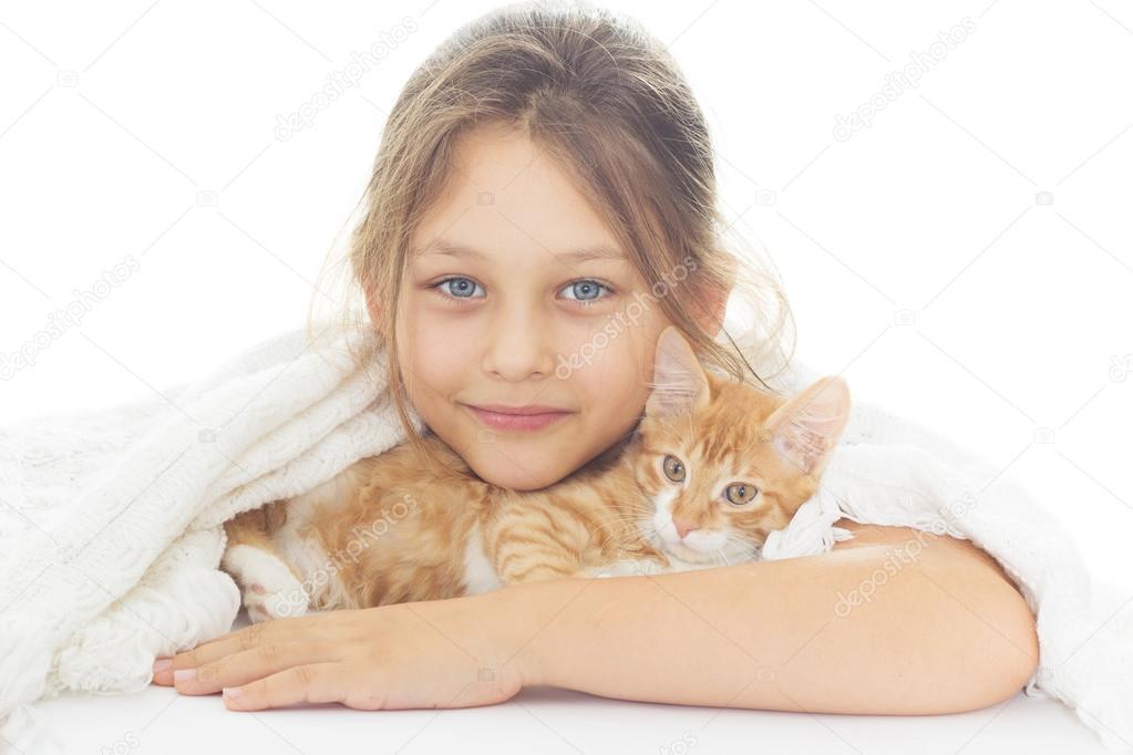 dívka kočička fotografie