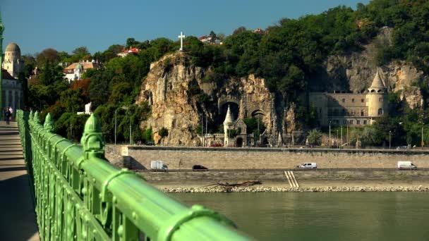 Ősi kastély Budapesten. Magyarország. Lövés 4K-ban, UHD