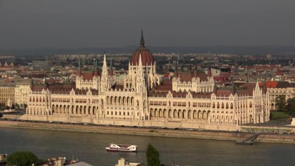 Magyar Parlament Budapesten. Lövés 4K-ban, UHD