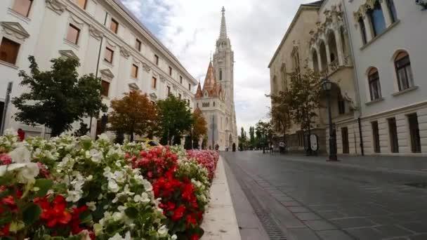 Mátyás templom Budapesten. Magyarország. Lövés 4K-ban, UHD