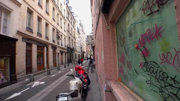 Paříž. Architektura, atrakce, staré domy, ulice a čtvrti. Ikonické lokace. Výstřel ve 4K, UHD