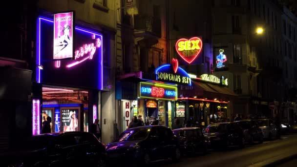 Szexbolt Párizsban. Jó éjt! Franciaországba. Videó 4K-ban, UHD
