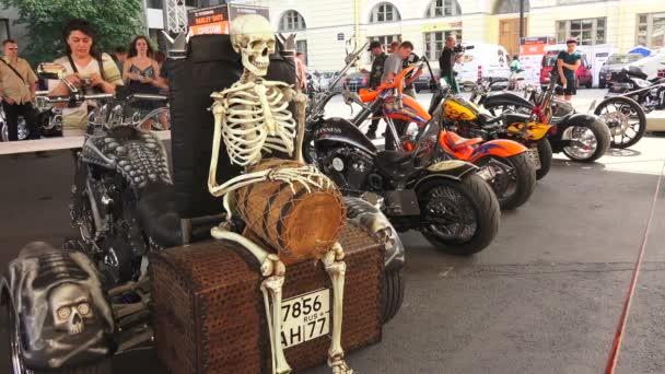 Harley Davidson bike. 4K.  St. Petersburg, summer 2014.