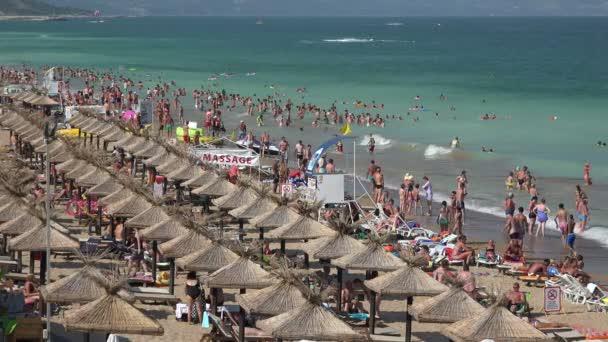 Golden Sands beach  in Bulgaria. Zlatni Piasci. 4K.