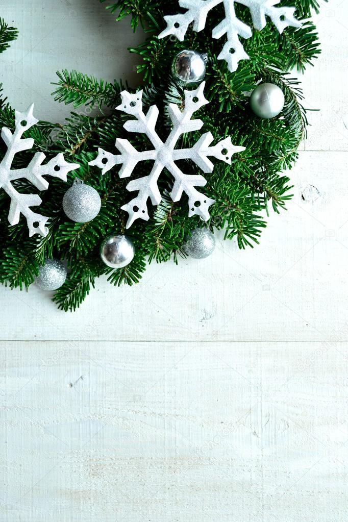Snow flakes Christmas wreath