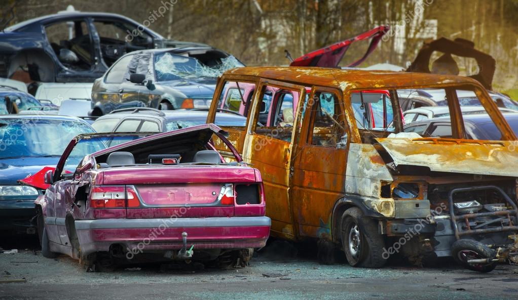 junk yard with old cars — Stock Photo © mikdam #120859252