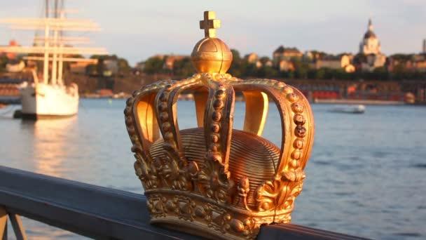 vista di Stoccolma con corona