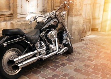 Photo of Harley Davidson on the street