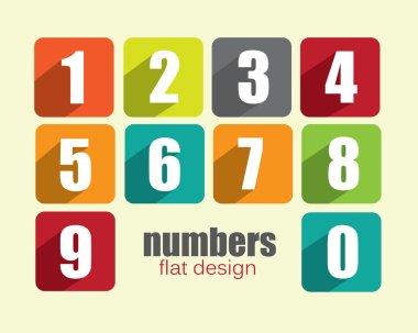 Colorful flat number blocks