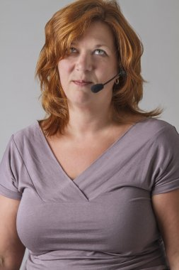 Annoyed receptionist