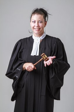 Grinning lawyer