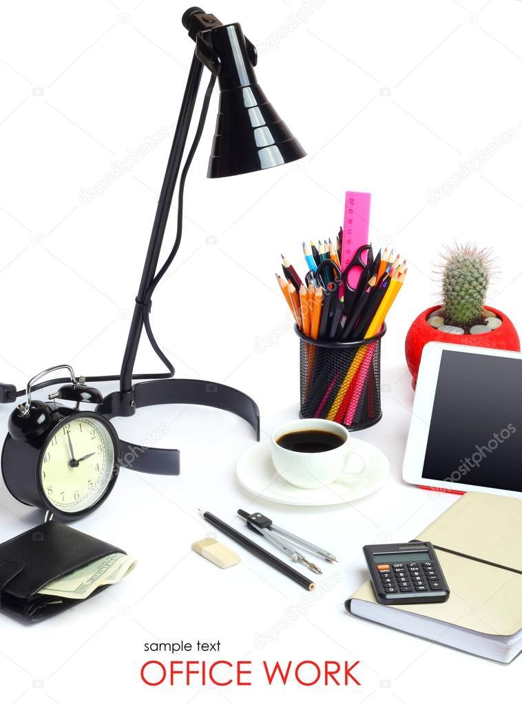 Concepto de negocio de oficina trabajo herramientas l piz for Concepto de oficina
