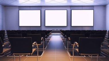 presentation in auditorium