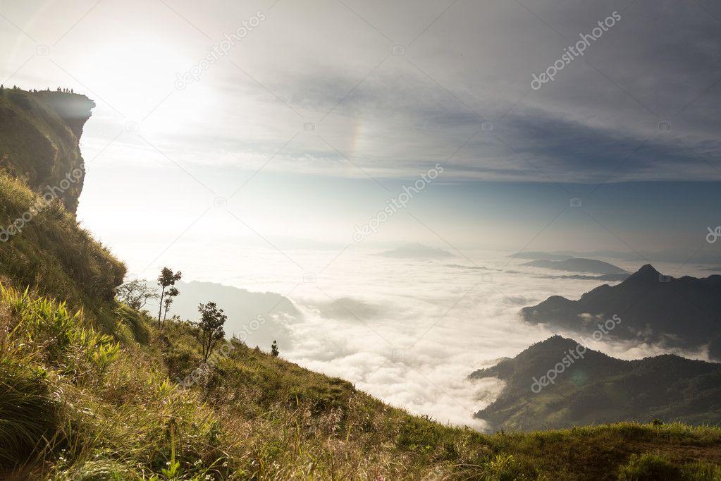 Phu Chi Fa landscape in Thailand