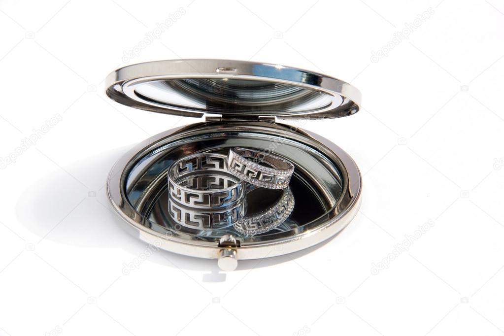 Ronde Spiegel Goud : Ronde spiegel art deco alyssa kopereffect d cm goud