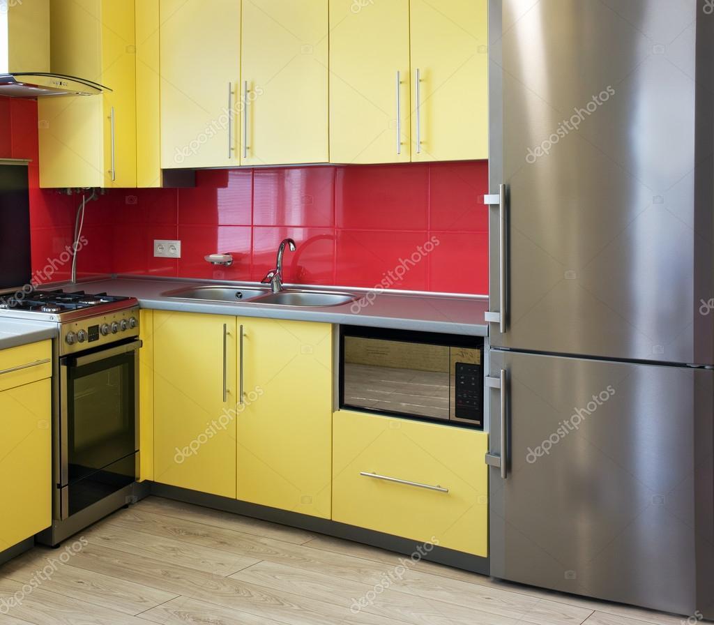 gelbe Küche — Stockfoto © Angelika #76400561