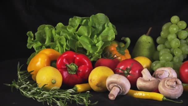 Colorful mix of fruits and vegetables