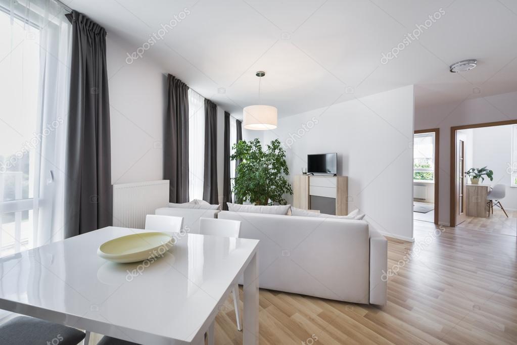 Spazio, design dinterni moderno salotto allaperto — Foto Stock ...