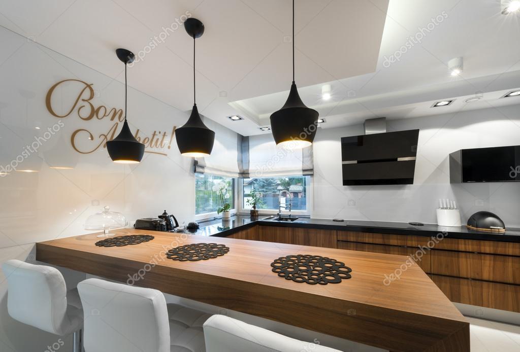 Modern Kitchen Counter Interior Design Stock Photo Jacek Kadaj 65501599