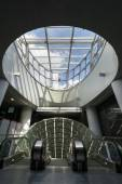 Futuristische Eingang zur zweiten Zeile Warschauer U-Bahn system