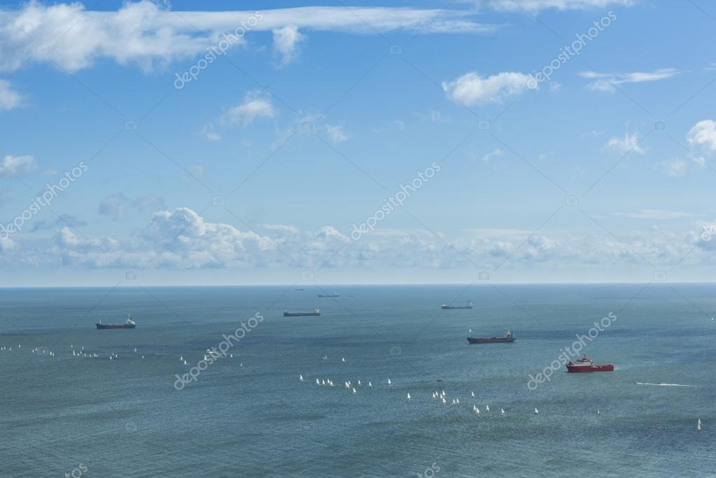 Ships on the Baltic sea