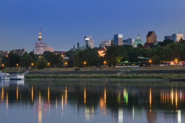 Warsaw during dusk time