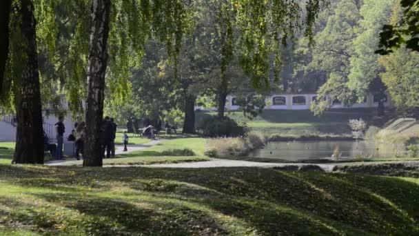 Park v paláce Branických v Bialystoku, Polsko.