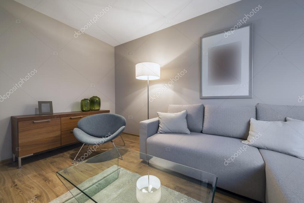Moderne Wohnzimmer Gestaltung — Stockfoto © jacek_kadaj ...