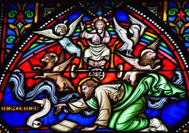 Prophet Ezekiel Stained Glass