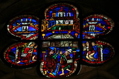 Stained Glass of the Arc of the Covenant in Cathedral of Leon, S