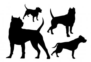 amstaff silhouettes
