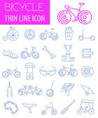 Photo Bicycle icon set. Bike types. Vector illustration linear thin de