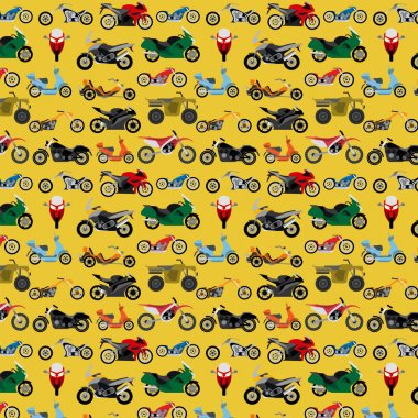 Motorcycles background, seamless