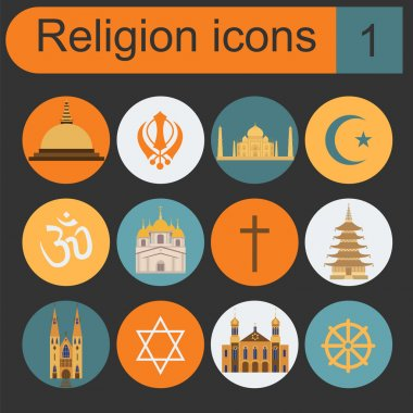Religion icon set