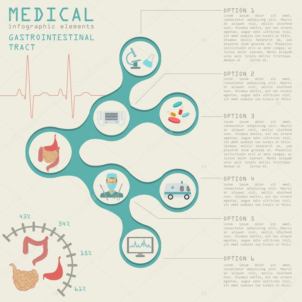Medizin und Gesundheit-Infographik, Magen-Darm-Trakt Infografiken ...