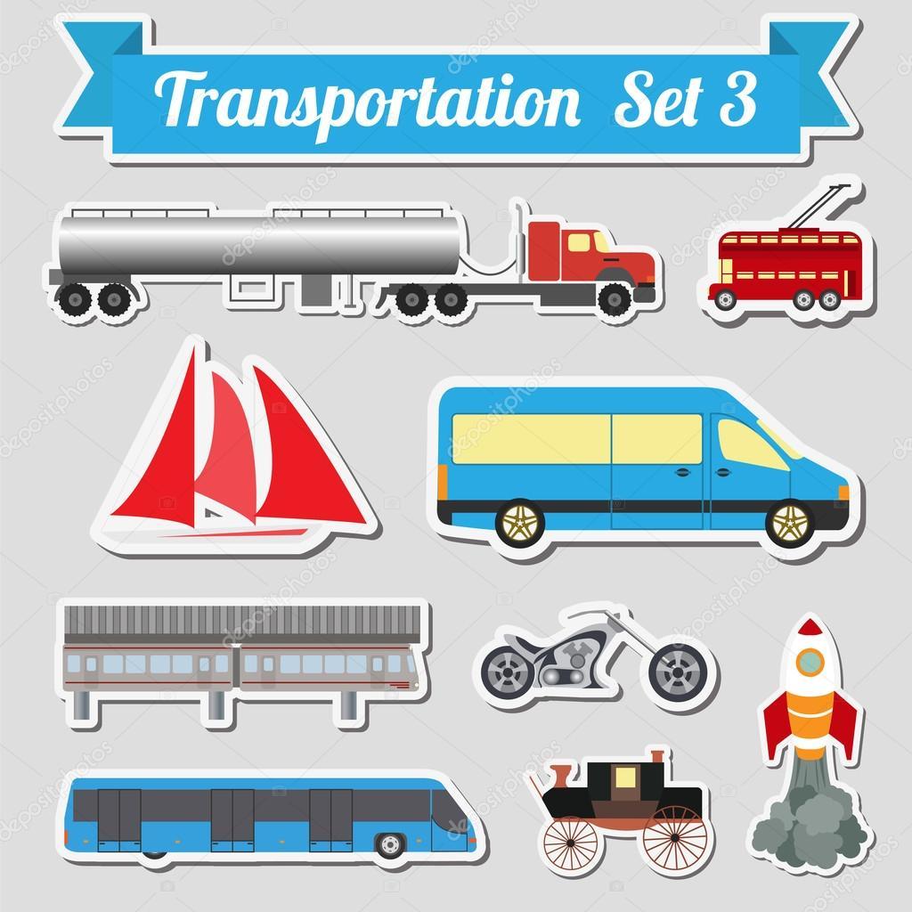 独自の infogr を作成するためのトランスポートのアイコンのすべての種類