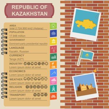 Kazakhstan  infographics, statistical data, sights.