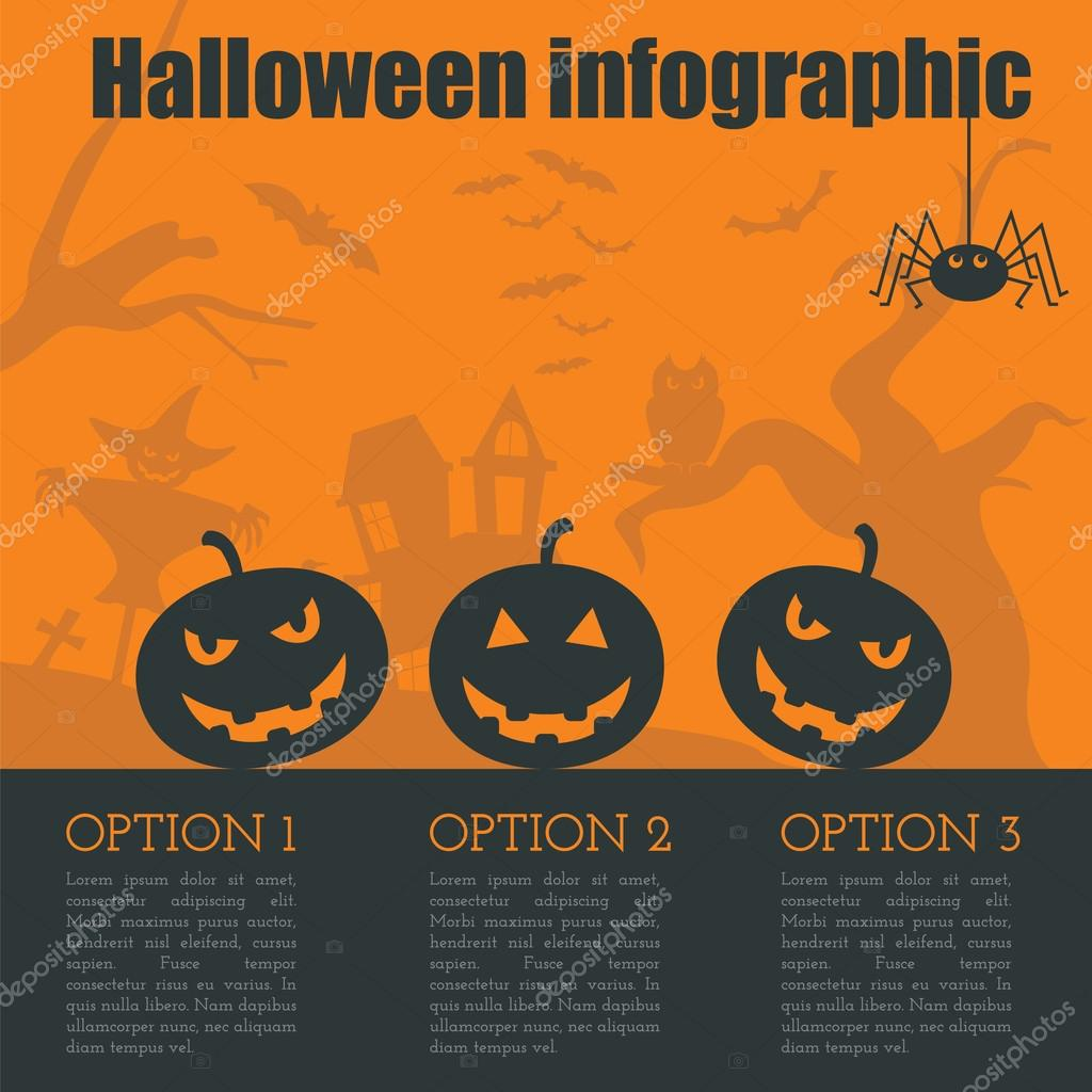 Halloween infographic design