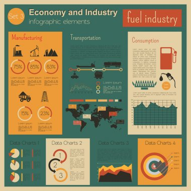 Economy and industry. Fuel industry. Industrial infographic template. Vector illustration clip art vector