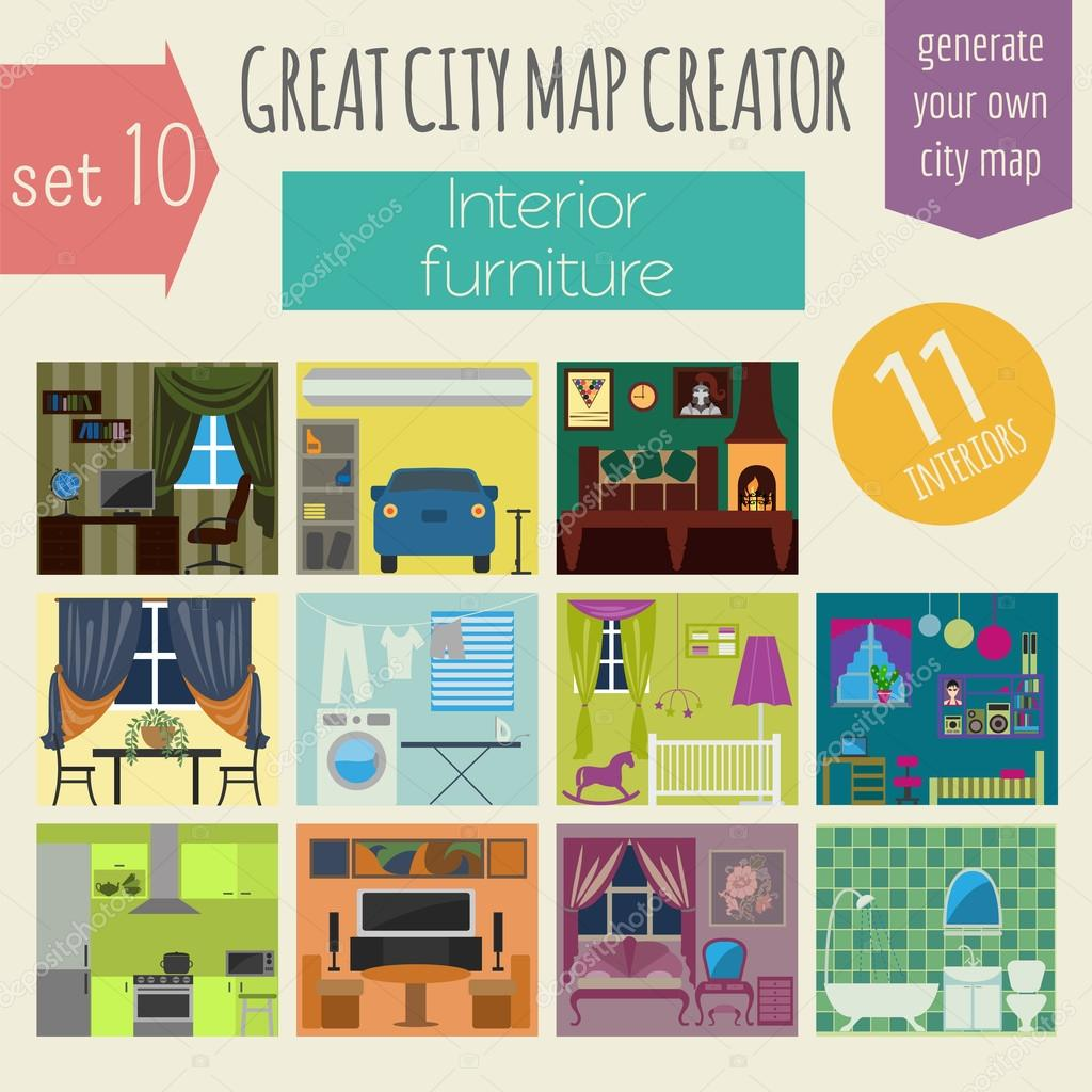 great city map creator house constructorinteriors furniture make your perfect city vector illustration vector by a7880s - House Map Creator