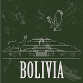 Fotografia Bolivia landmarks. Retro styled image