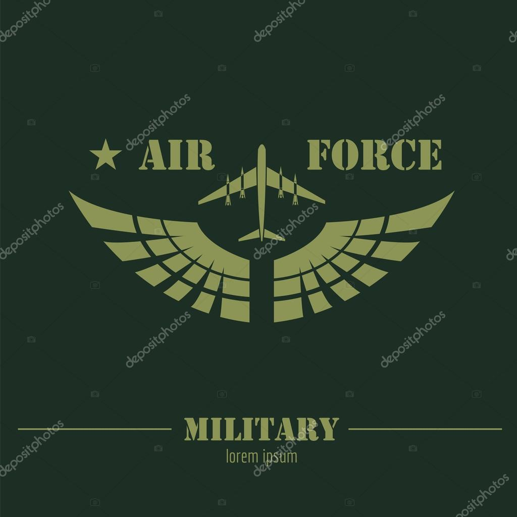 military logo and badge air force graphic template stock vector