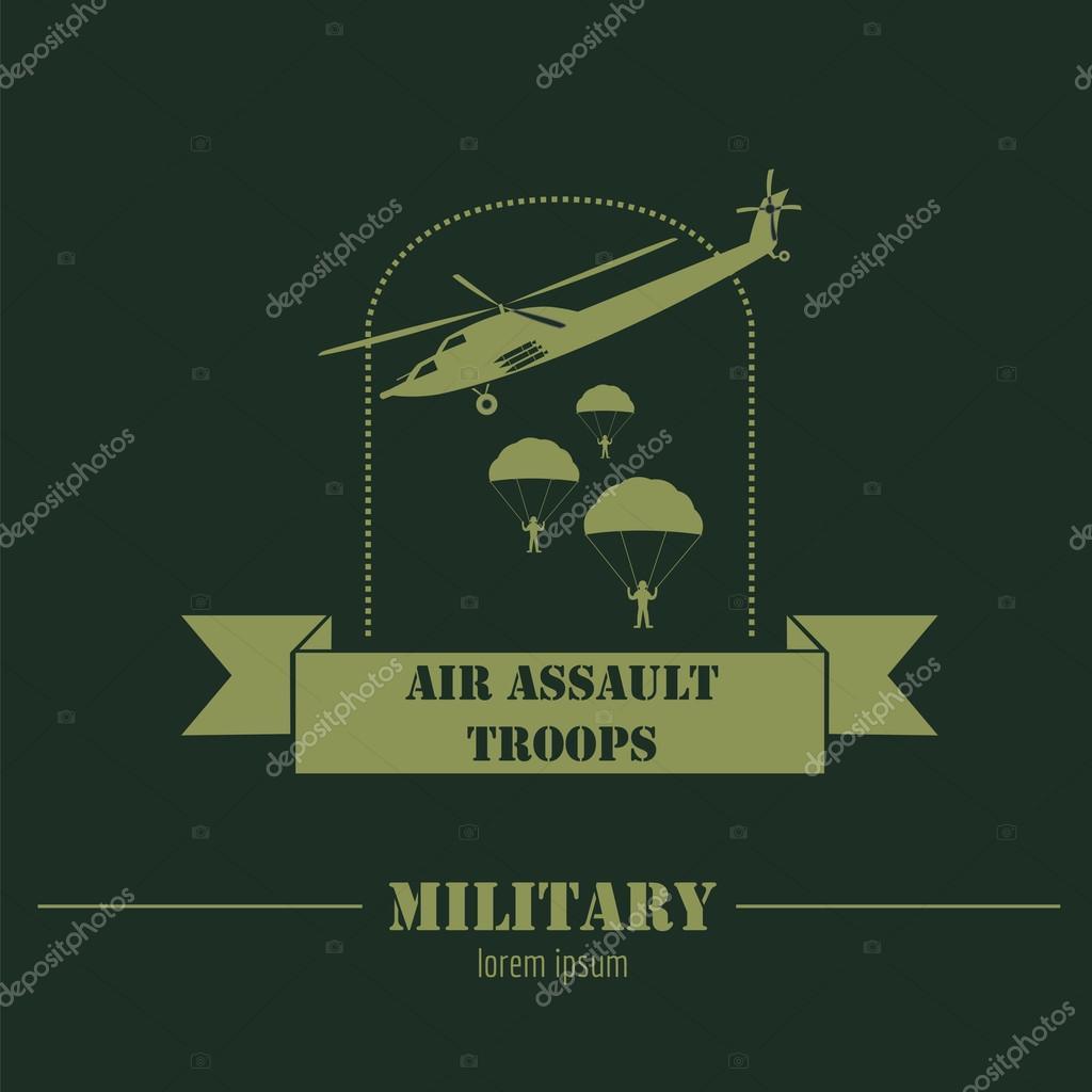 Vehículos militares y blindados de logos y escudos. Plantilla de ...