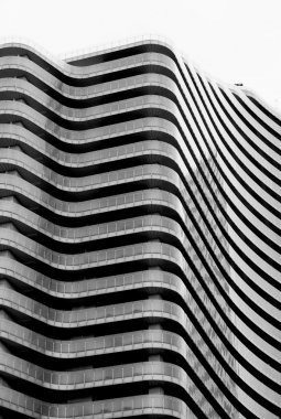 Abstract architectural city view