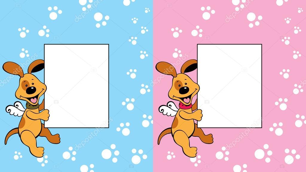 Marco con perrito — Archivo Imágenes Vectoriales © J-Shoo #59758479